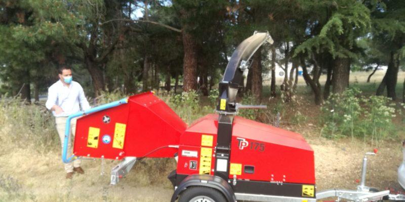 Diputación de Ávila presenta la maquinaria forestal para el Plan Piloto